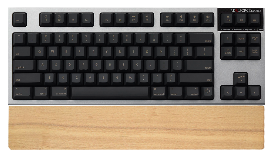 REALFORCE for Mac テンキーレス 「PFU Limited Edition」英語配列/ブラック、パームレスト付