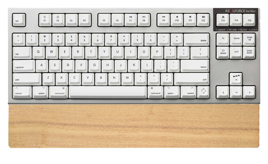 REALFORCE for Mac テンキーレス 「PFU Limited Edition」英語配列/スーパーホワイト、パームレスト付