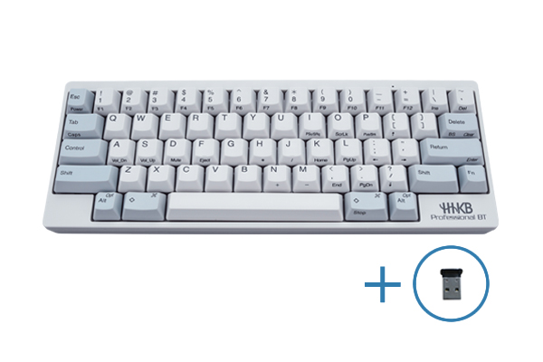 HHKB Professional BT 英語配列/白 Bluetooth-USBアダプタ セット