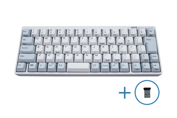HHKB Professional BT 日本語配列/白 Bluetooth-USBアダプタ セット